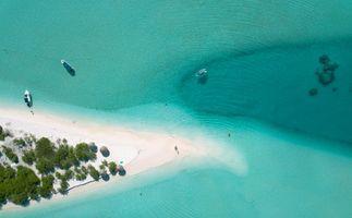 Maldives Sandbank and Crystal Clear Sea