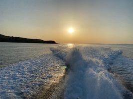 Cruising before sunset.