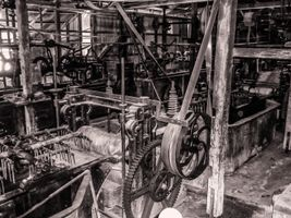 Machinery in old woolscour