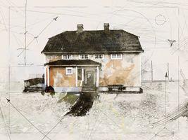 The main house. Family farm legacy.