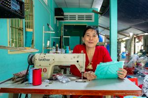 Sewing Lady