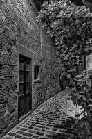 Narrow street in Monochrome, Gozo.
