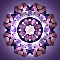 Kaleidoscopic Mandala Design with Shiney Highlights and a Vignette Background ~ 421211