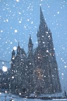 Cobh Cathedral in Blizzard Conditions