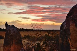 Rocks after sunset