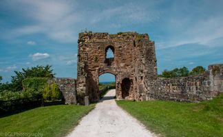 Tutbury Castle entrance