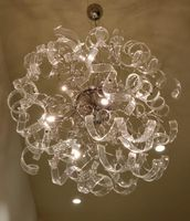 Glass ribbon chandelier