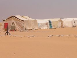 Camps in the desert