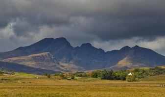 Cuillin mountains after heavy rain. Isle of Skye
