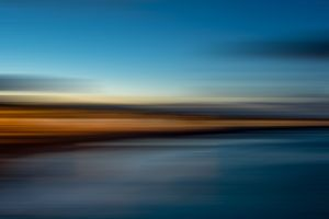 Seafront in a Blur at Dusk, Ireland