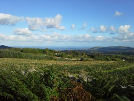 View of Bray from Glencree, Co. Wicklow, Ireland