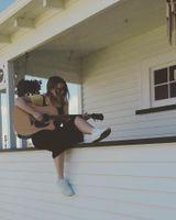 Katherine and guitar