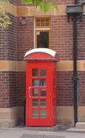 Historic Red Australian Telephone Box
