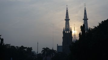 Morning lights Cathedral Jakarta