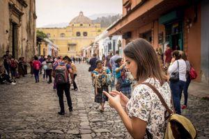 Tourist in Antigua Guatemala