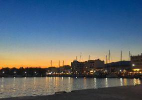 Karystos port by night