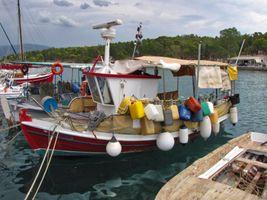 Colorful boat in Galaxidi