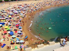 Typical Crowded Beach