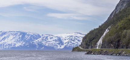 Skillefjord a little fjord arm in Altafjord