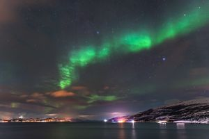 Northern lights above Alta fjord