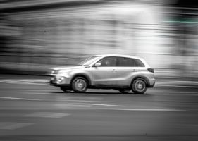 Car in motion #4