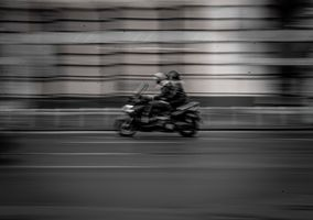 Car in motion #3 (actually a motorcycle)