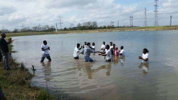 Josh Martin Gets Baptized