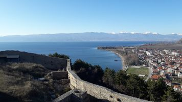 Fortress beside Ohrid Lake
