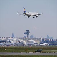 Landing at Frankfurt Airport