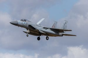 Isreali F-15I about to land by Clive Wells