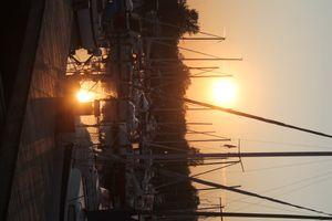 Sunset at Koege Marina
