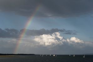Showery day on the Solent