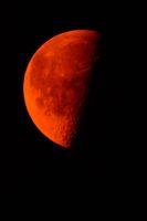 Red moon at dawn
