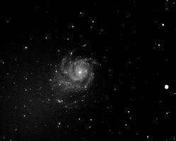 Spiral arm galaxy