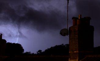 Lightning and chimney