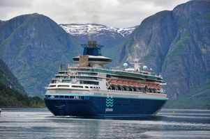 Cruiseliner in a Fjord