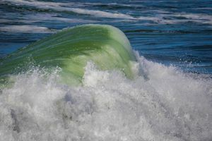 Green Curling Wave
