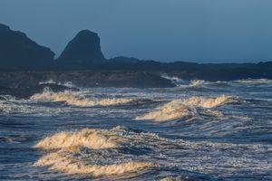 Waves on the Oregon Coast