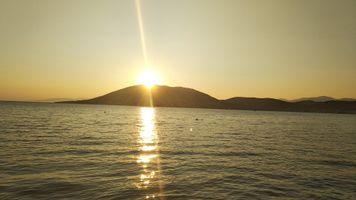 SUNSET ON GREEK ISLANDS