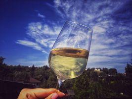 White wine from Eger, Hungary