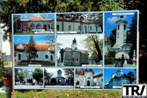 Panel with pictures from the Monastery