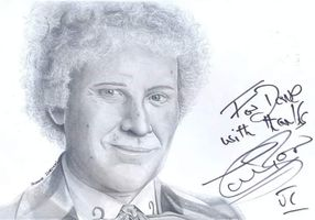 Colin baker signed drawing