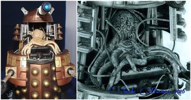 Open dalek - figure and drawing comparison