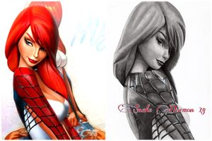 Mary jane in Spidey suit