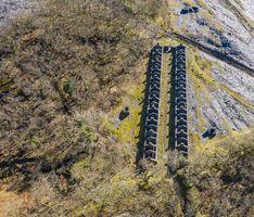 Old abandoned slate miner barracks