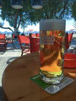 Beer courtesy Mythos