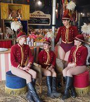 Circus ladies on their break