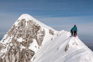 Snow-covered ridge