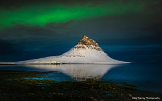 Mt. Kirkjufell with Aurora