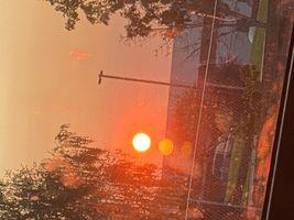 Sun during wild fires